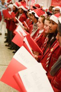 Swanea sings christmas carols